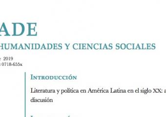 Literatura y política en América Latina: nueva edición de revista Pléyade
